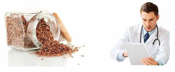 Las semillas de lino para adelgazar como complemento