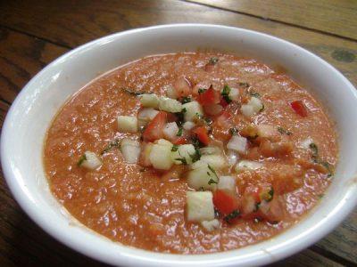 Gazpacho, Apio y Ensaladilla  recetas sanas para perder peso