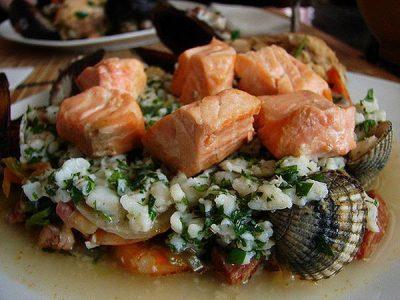 Proteínas de jamón y pescado