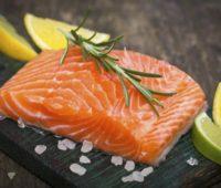 Salmón a la naranja para la dieta