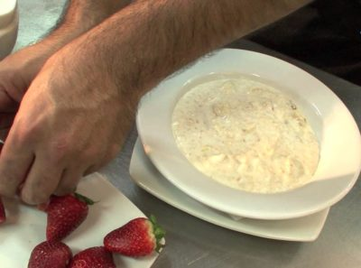 Galletas de avena rellenas de fresa